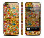Наклейка Qsticker на iPhone 5 - дизайн Clipart Yellow