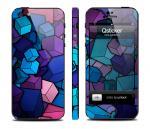 Наклейка Qsticker на iPhone 5 - дизайн Cube