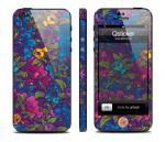 Винил Qsticker для iPhone 5 - дизайн Flowers Violet