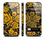 Скин Qsticker для iPhone 5 - дизайн Hohloma Gold