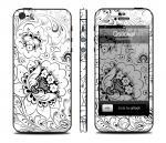 Скин Qsticker для iPhone 5 - дизайн Hohloma White