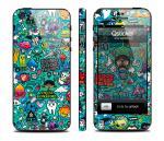 Наклейка Qsticker на iPhone 5 - дизайн Clipart Green