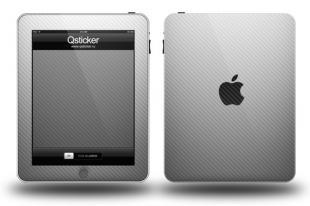 Карбон на Apple iPad, Белый