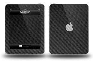 Карбон на Apple iPad, Черный