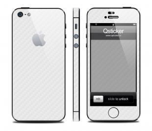 Карбон на iPhone 5, белый