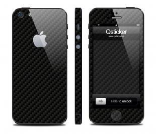 Карбон Qsticker на iPhone 5, черный