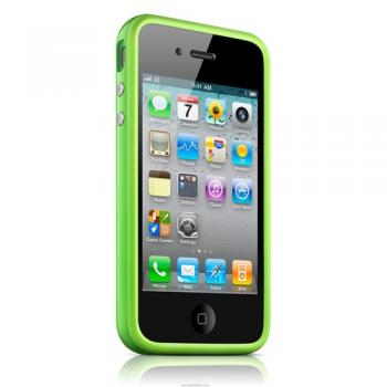 bumper iPhone 4/4s - зеленый