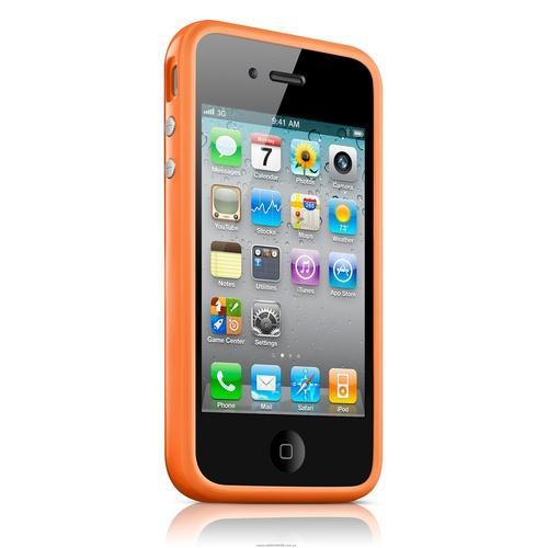 bumper iPhone 4/4s - оранжевый