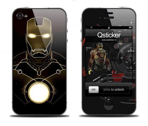 Наклейка на iPhone 4/4S - дизайн Iron Man