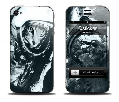 Наклейка на iPhone 4/4S - дизайн Supercat