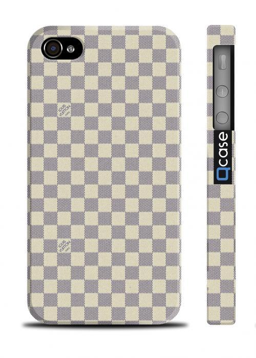 Чехол с принтом Луи Витон для iPhone 4/4S - LV Light squares