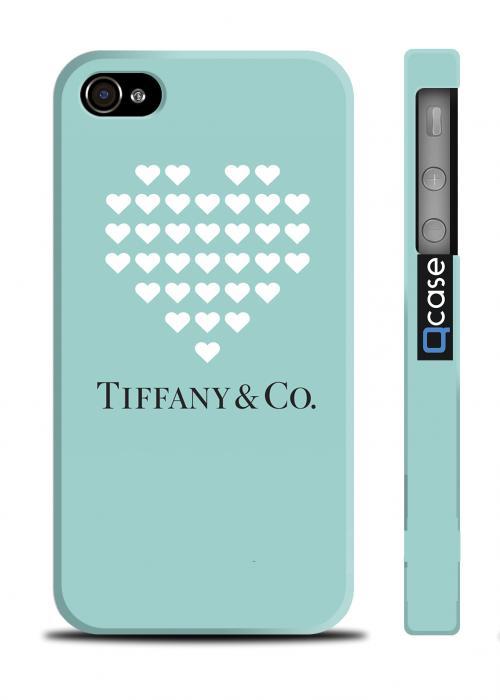 Брендовый чехол с логотипом для iPhone 4/4S - Tiffany Heart