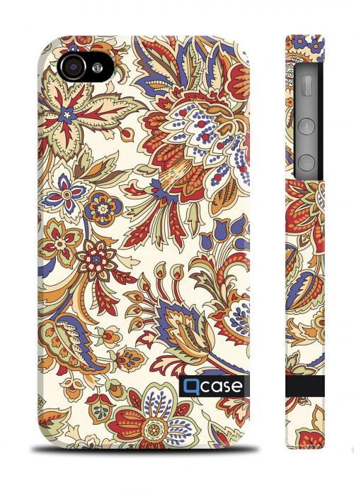 Чехол Qcase яркий принт iPhone 4/4S - Spring