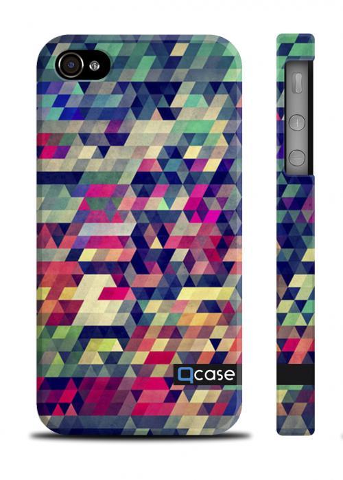 Cтильный чехол Qcase c 3D принтом iPhone 4/4S - Puzzle