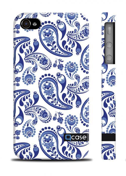Чехол Qcase c цветочным принтом iPhone 4/4S - Gzel