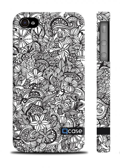 Купить чехол с цветочным принтом iPhone 4/4S, Киев - Flowers pattern