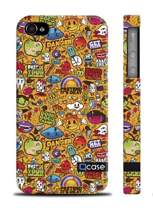 Уникальный чехол QCase iPhone 4/4S, Киев - Clipart Yellow