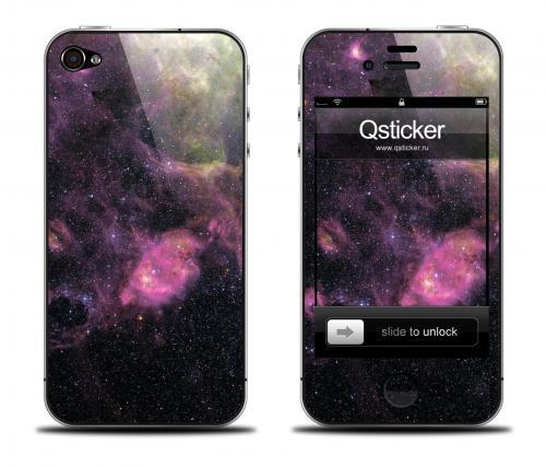 Наклейка на iPhone 4/4S - дизайн Galaxy