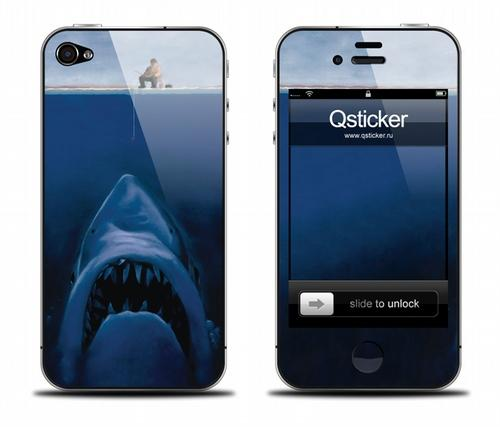 Наклейка на iPhone 4, 4S - Shark