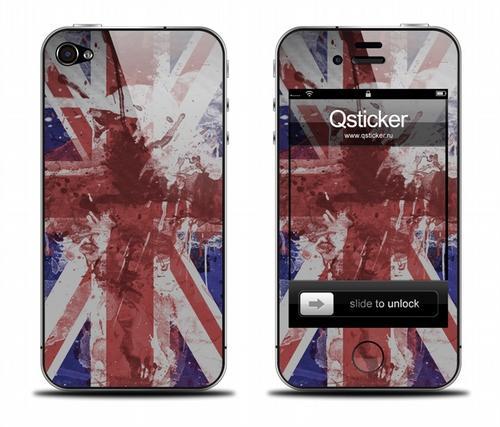 Наклейка на iPhone 4 - Flag England