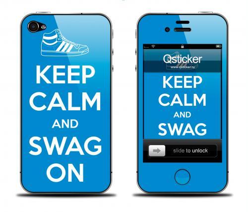 Наклейка на iPhone 4/4S - дизайн SWAG ON