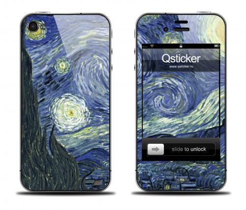 Наклейка на iPhone 4/4S - дизайн Ван Гог