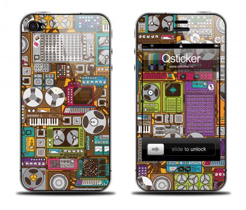 Наклейка на iPhone 4/4S - дизайн Video