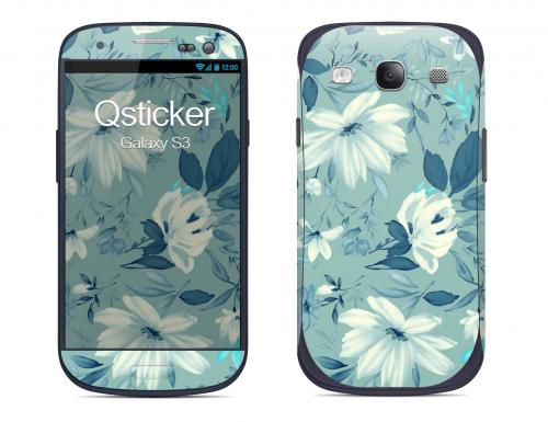Наклейка на Samsung Galaxy S3 - Flovers Blue