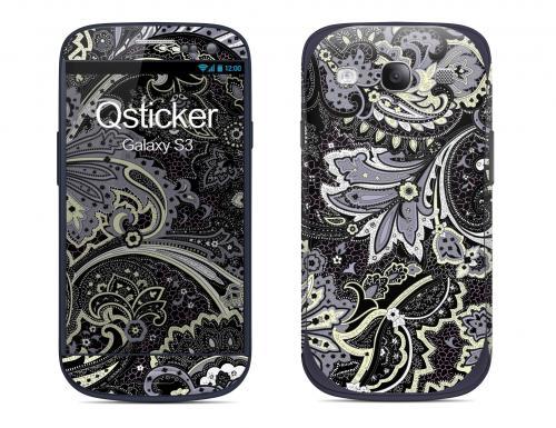 Наклейка на Samsung Galaxy S3 - Flovers Grey