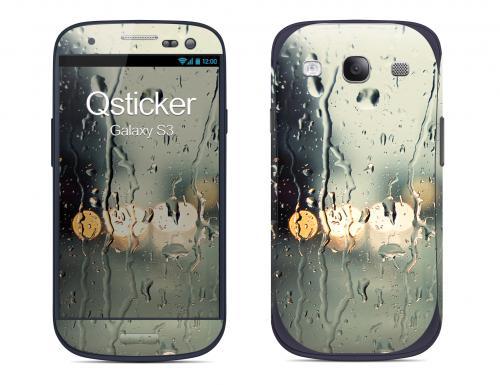 Наклейка на Samsung Galaxy S3 - Дождь