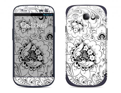 Наклейка на Samsung Galaxy S3 - Hohloma WhiteWhite