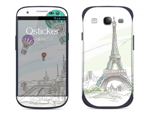 Наклейка на Samsung Galaxy S3 - Paris