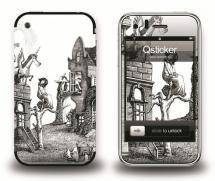 Наклейка на iPhone 3Gs - Zamura 4