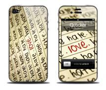 Наклейка на iPhone 4 - Love Hate