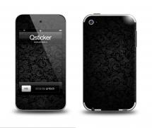 Наклейка на Apple iPod Touch 4 - PatternBlack