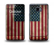 Наклейка Qsticker на Samsung Galaxy S2 - флаг США