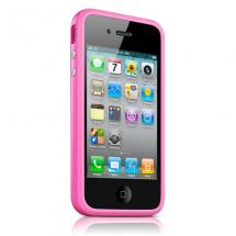 bumper iPhone 4/4s - розовый