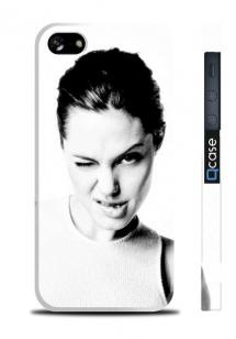 Чехол для iPhone 5/5S - Angelina Jolie 5