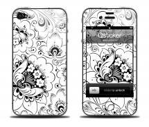 Наклейка iPhone 4s - Hohloma White White