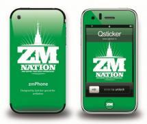Наклейка на iPhone 3Gs - ZM Green