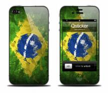 Наклейка на iPhone 4 - FlagBrazil
