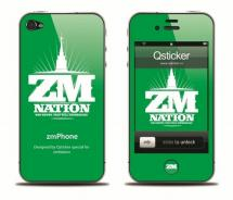 Наклейка на iPhone 4 - ZM Nation Green