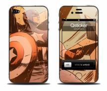 Наклейка на iPhone 4 - CaptainAmerica