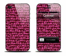 Наклейка на iPhone 4 - Louis Vuitton Pink