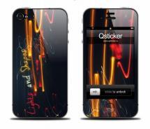 Виниловая наклейка на iPhone 4 - Lights and Shapes