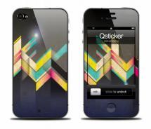 Виниловая наклейка на iPhone 4 - Lines