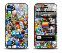 Виниловая наклейка на iPhone 4 - Logos