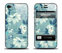 Виниловая наклейка на iPhone 4 - Flowers Blue