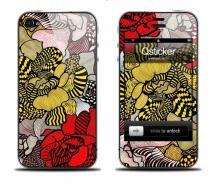 Виниловая наклейка на iPhone 4 - Flowers Autumn