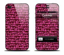 Наклейка на iPhone 4 - Louis Vuitton Pink